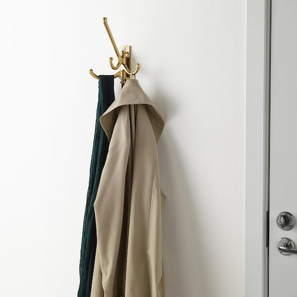 KÄMPIG 3-armed swivel hook, brass-colour