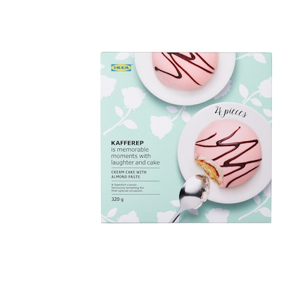 KAFFEREP Cream cake with almond paste, almond, 320 g