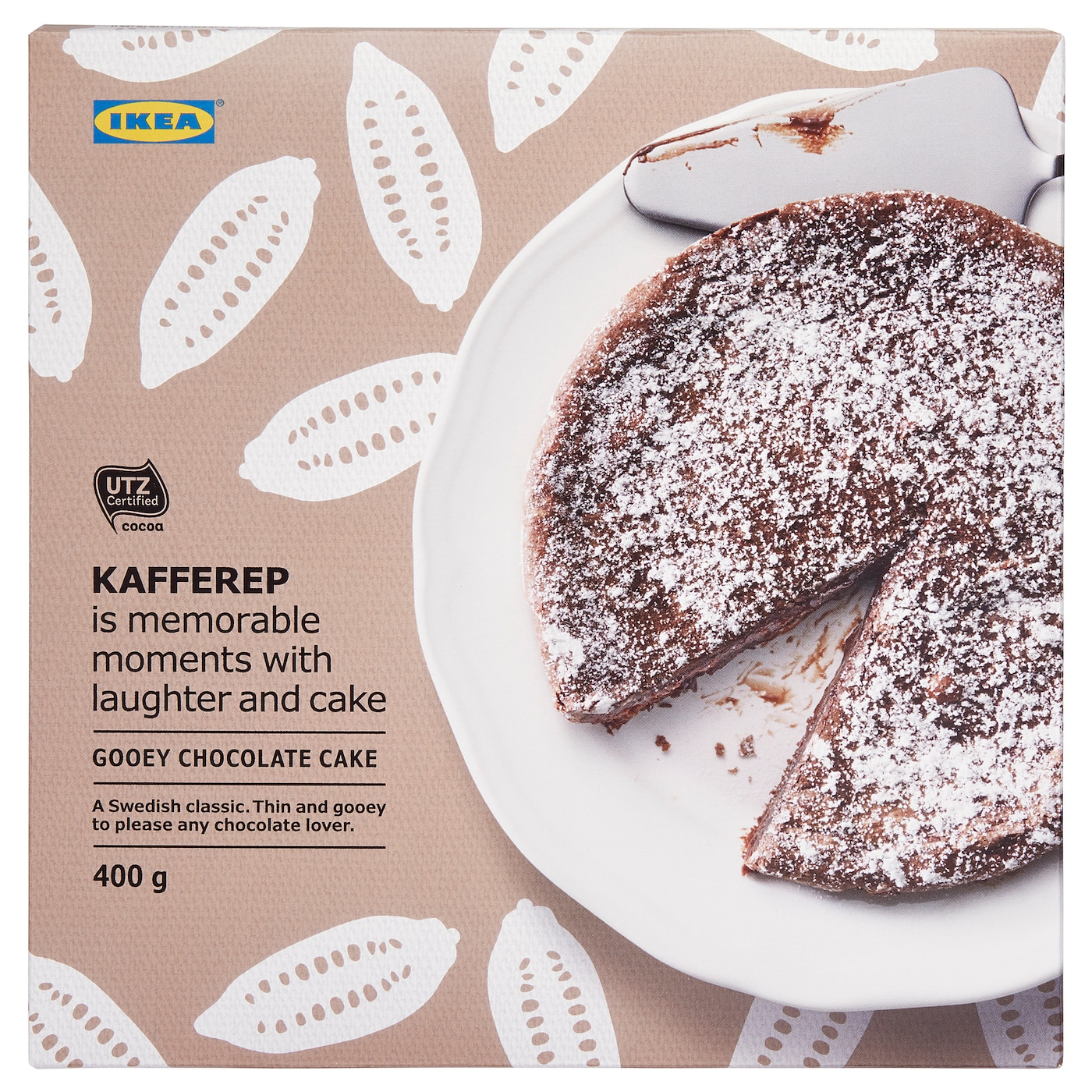 IKEA KAFFEREP gooey chocolate cake A Swedish classic. Thin and gooey to please any chocolate lover.