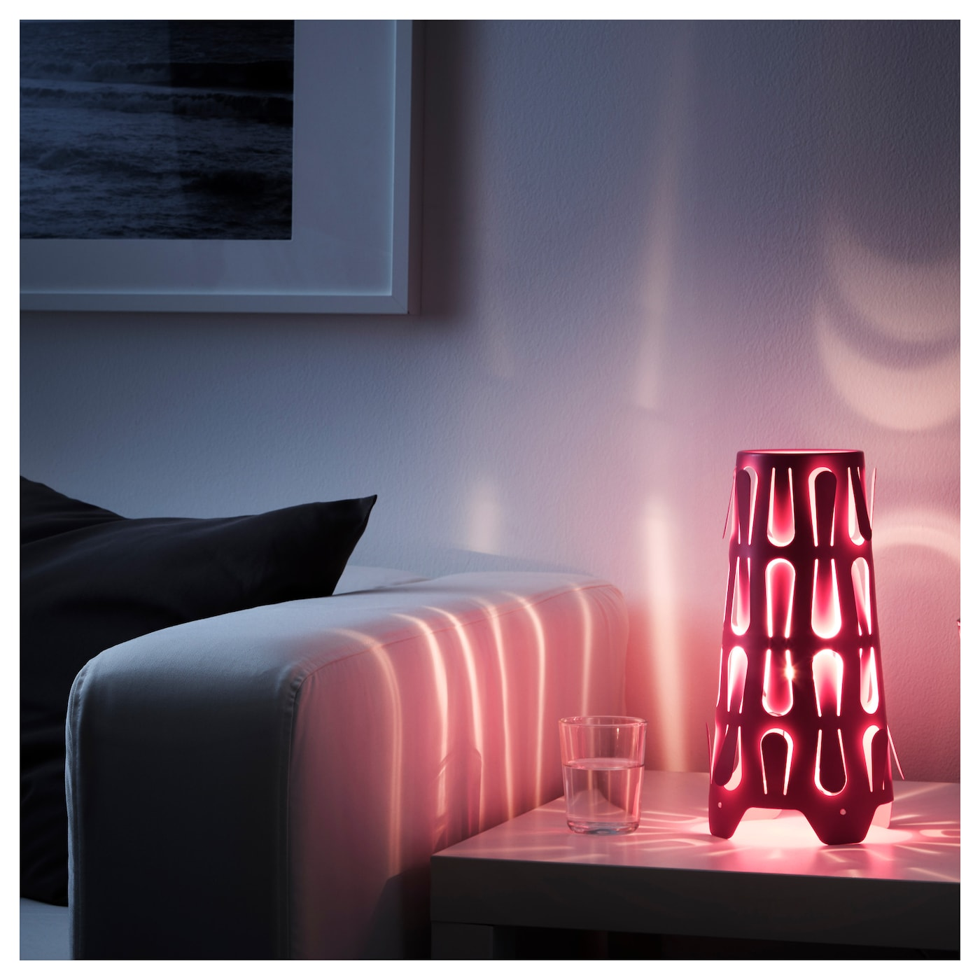 IKEA KAJUTA table lamp You can create your own light pattern by bending the tabs inward or outward.