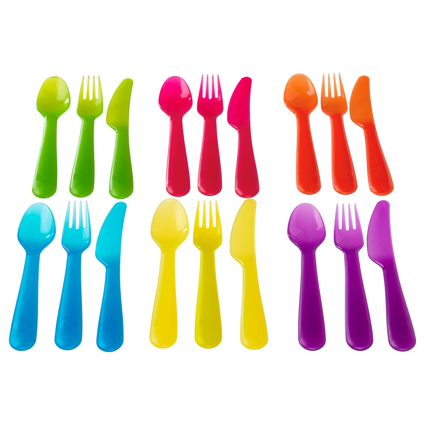 IKEA KALAS 18-piece cutlery set Easy for children to grip in their small hands.