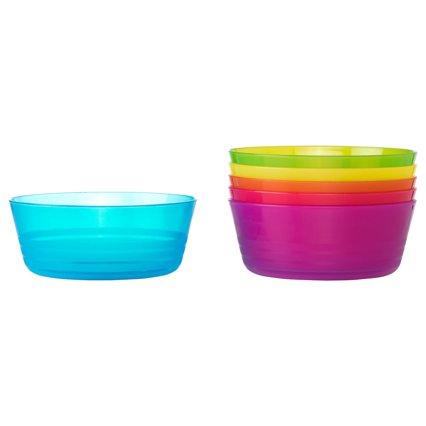 IKEA KALAS bowl Can be stacked to save space when stored.