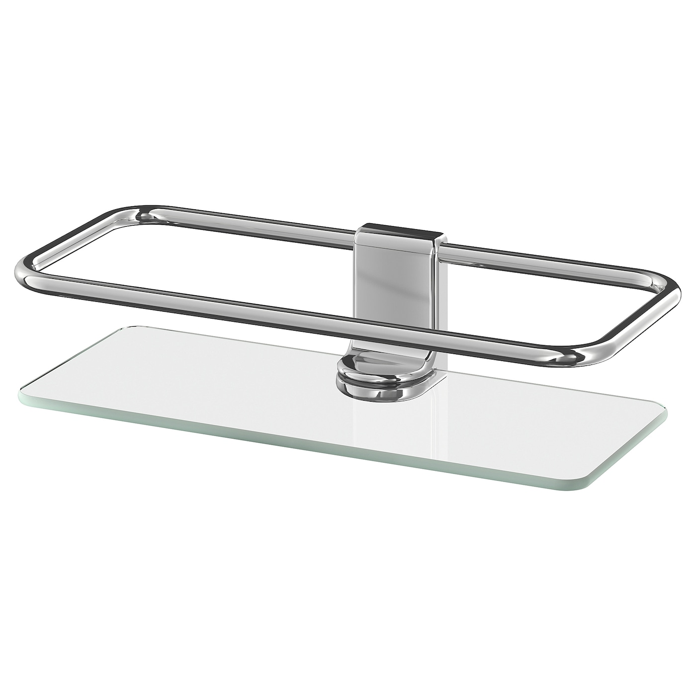 IKEA KALKGRUND shower shelf Tempered glass - extra resistant to heat, impact and heavy loads.