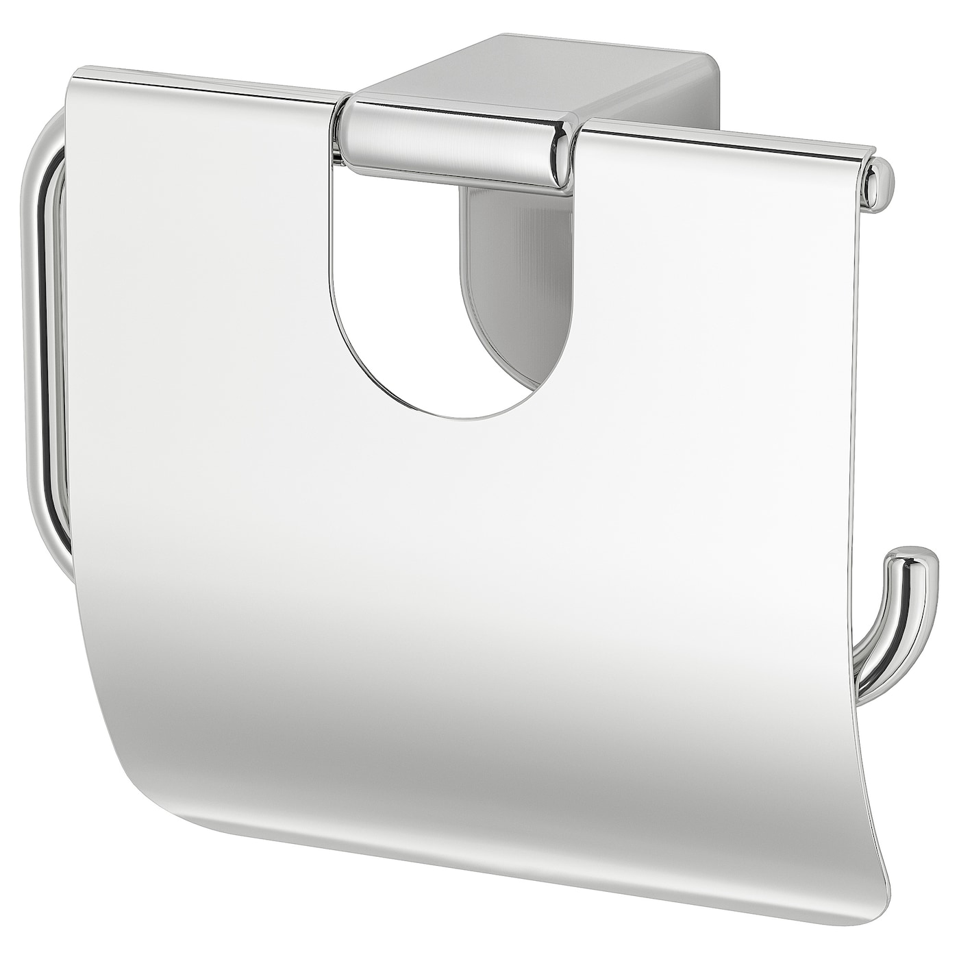 IKEA KALKGRUND toilet roll holder Easy to clean since the surface is clear lacquered.