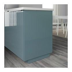 Kallarp cover panel high gloss grey turquoise 39x86 cm ikea for Cuisine kallarp