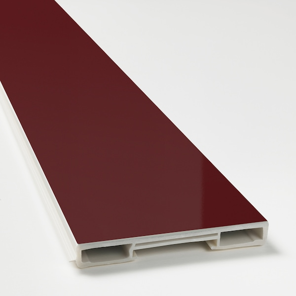 KALLARP plinth high-gloss dark red-brown 220.0 cm 8 cm 220 cm 8.0 cm 1.0 cm