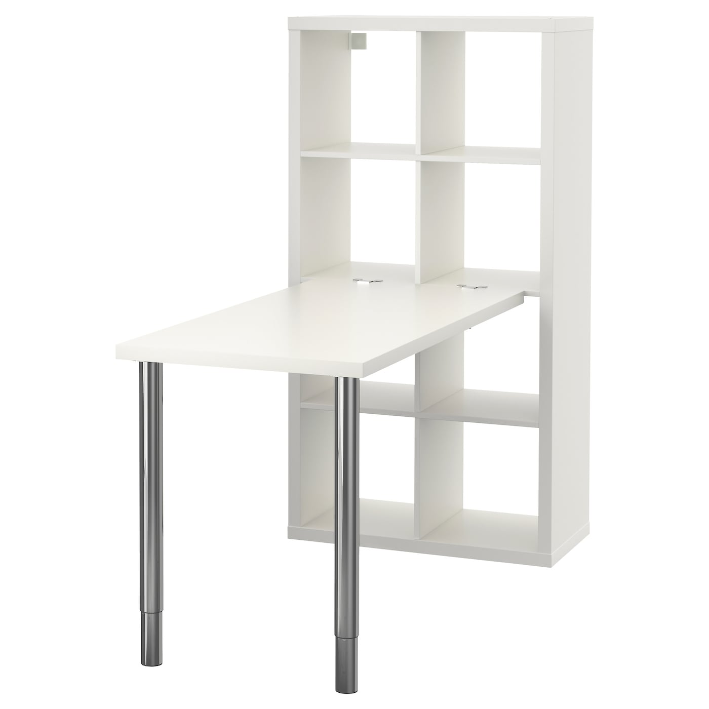 kallax desk combination white chrome plated 77 x 147 cm ikea. Black Bedroom Furniture Sets. Home Design Ideas
