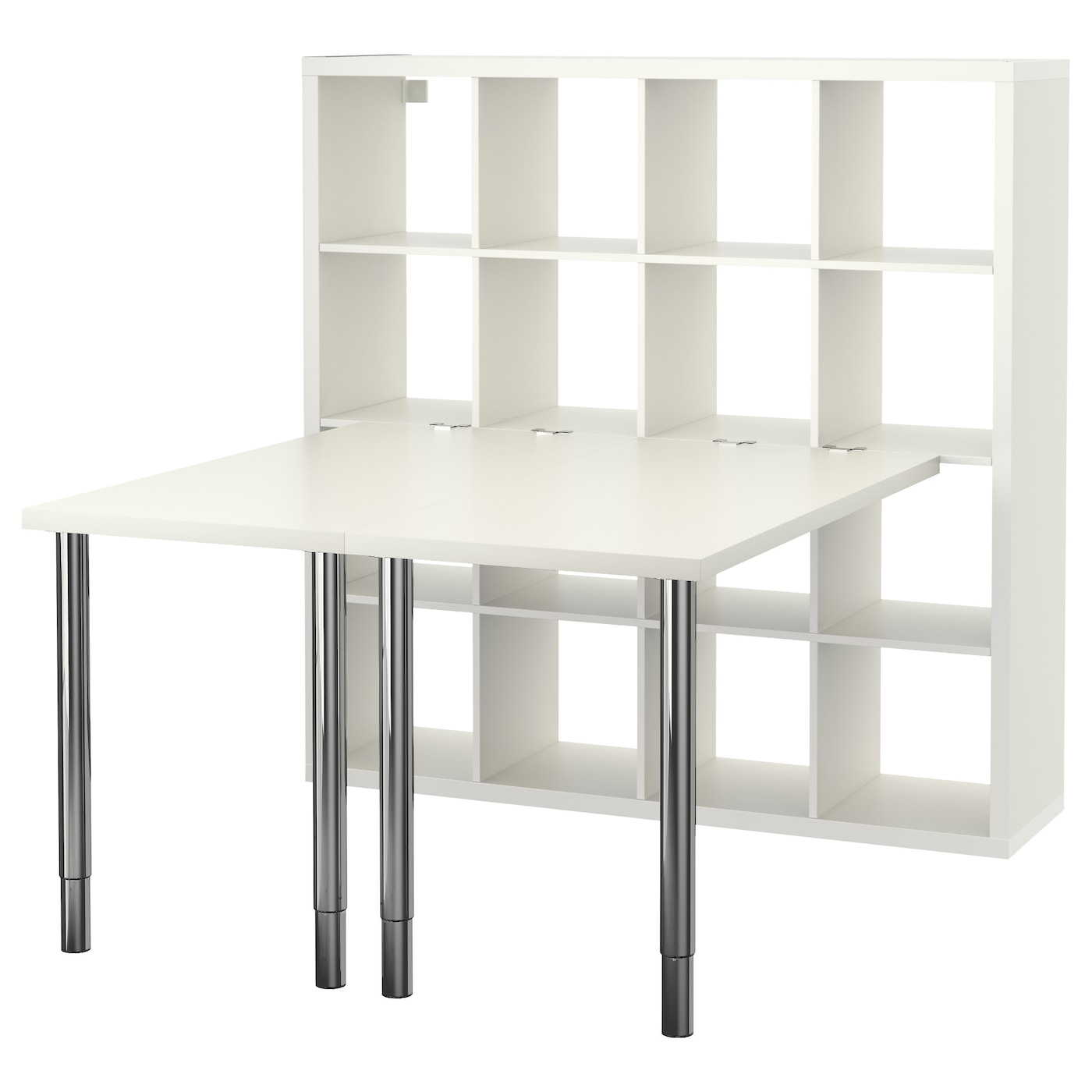 Kallax Desk Combination White 147×147 Cm Ikea # Bureau Kallax