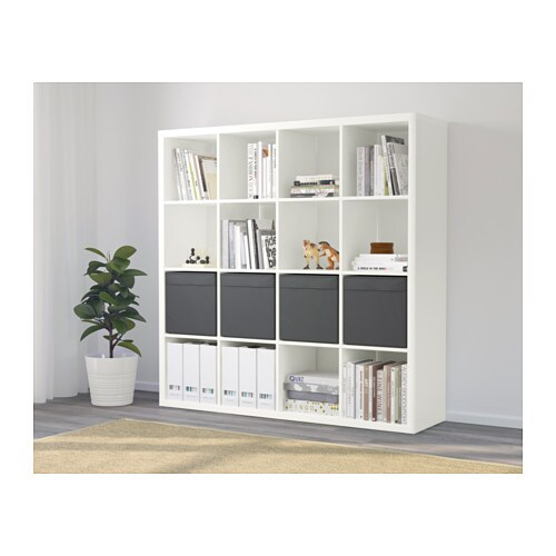 kallax dr na shelving unit with 4 inserts white 147x147 cm ikea. Black Bedroom Furniture Sets. Home Design Ideas