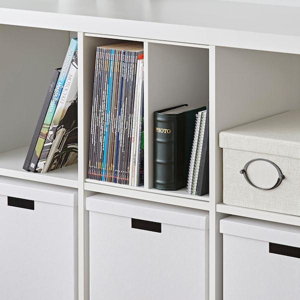 KALLAX Insert with 1 shelf, white, 33x33 cm