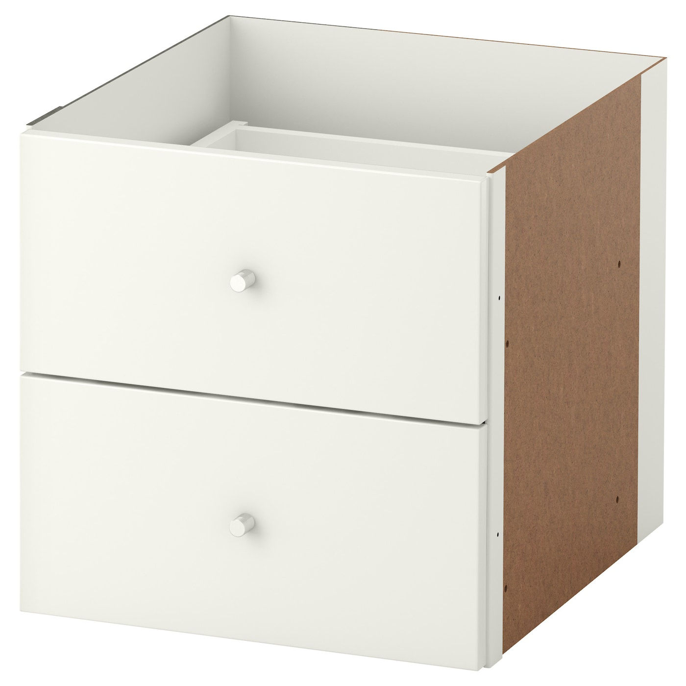 kallax insert with 2 drawers high gloss white 33x33 cm ikea. Black Bedroom Furniture Sets. Home Design Ideas