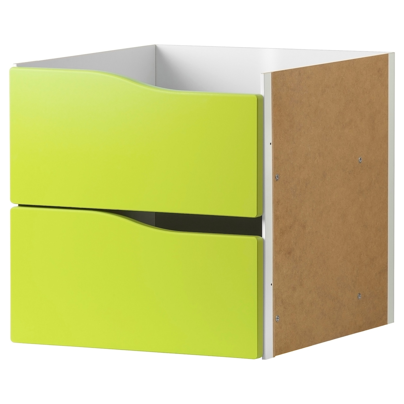 kallax insert with 2 drawers light green 33x33 cm ikea. Black Bedroom Furniture Sets. Home Design Ideas