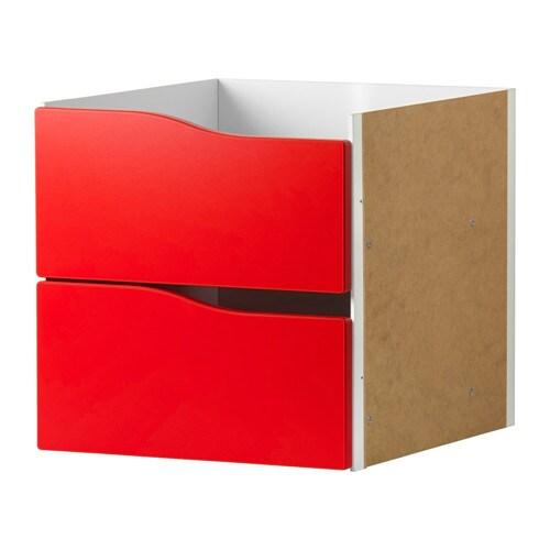KALLAX Insert With 2 Drawers Red 33x33 Cm IKEA