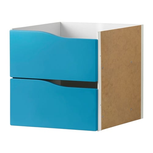 kallax insert with 2 drawers turquoise 33x33 cm ikea. Black Bedroom Furniture Sets. Home Design Ideas