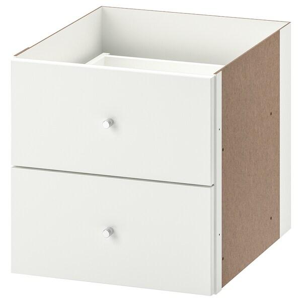 KALLAX insert with 2 drawers high-gloss white 33 cm 37 cm 33 cm