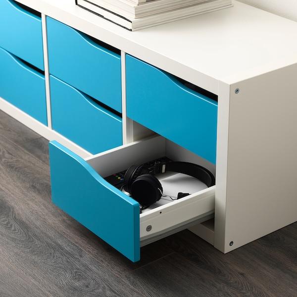KALLAX insert with 2 drawers turquoise 33 cm 37 cm 33 cm