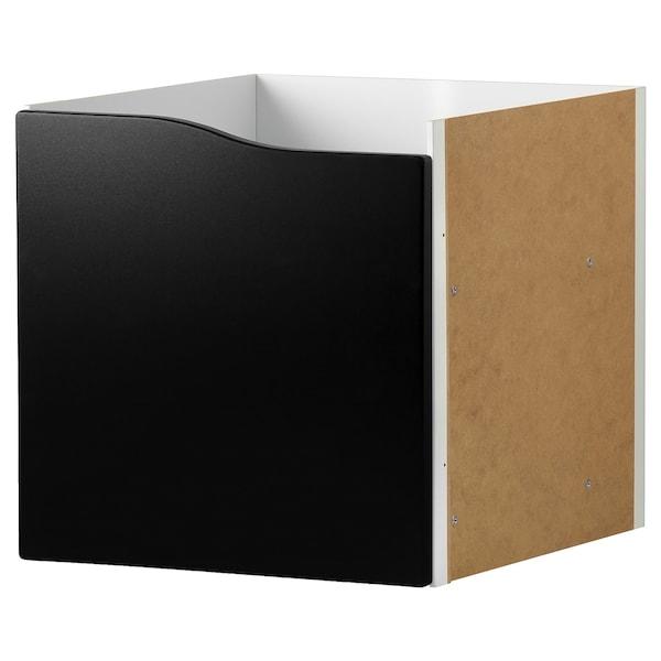 KALLAX Insert with door, blackboard surface, 33x33 cm