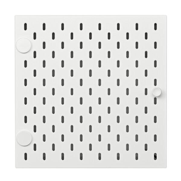 KALLAX Insert with pegboard, white, 33x33 cm