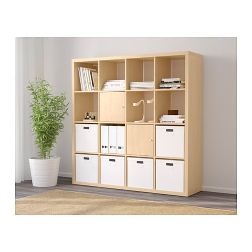 kallax shelving unit birch effect 147x147 cm ikea. Black Bedroom Furniture Sets. Home Design Ideas
