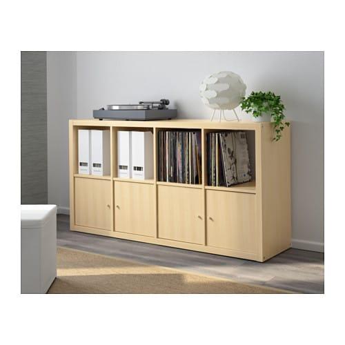 kallax shelving unit birch effect 77x147 cm ikea. Black Bedroom Furniture Sets. Home Design Ideas