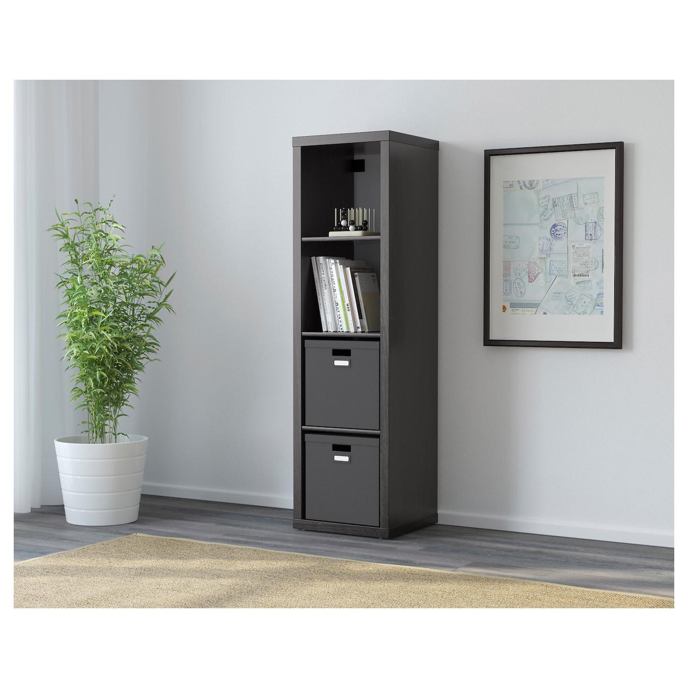 kallax shelving unit black brown 42 x 147 cm ikea. Black Bedroom Furniture Sets. Home Design Ideas
