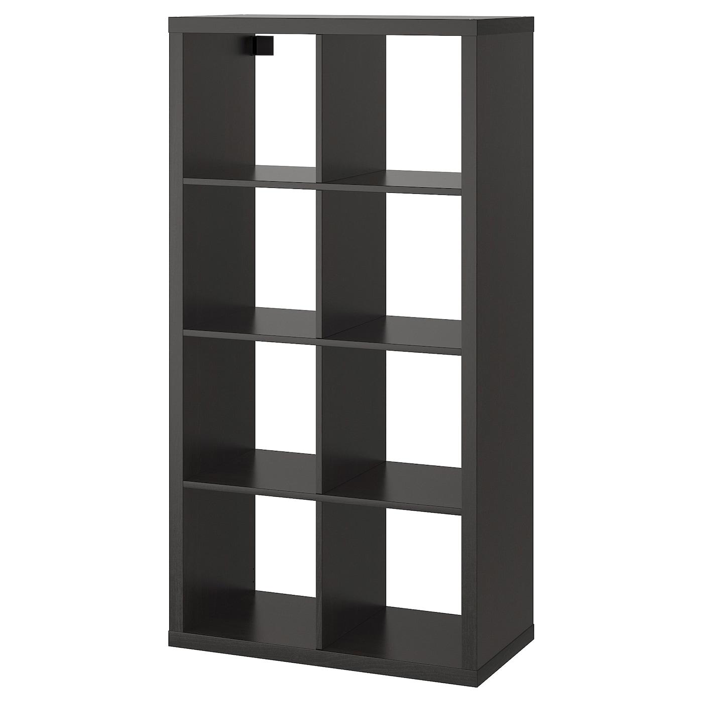 kallax shelving unit black brown 77 x 147 cm ikea. Black Bedroom Furniture Sets. Home Design Ideas