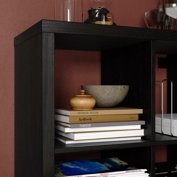 KALLAX Shelving unit, black-brown, 147x147 cm