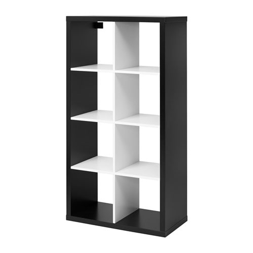 kallax shelving unit black white 77x147 cm ikea. Black Bedroom Furniture Sets. Home Design Ideas