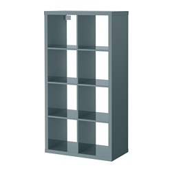 Kallax shelving unit high gloss grey turquoise 77x147 cm - Kallax rot ...