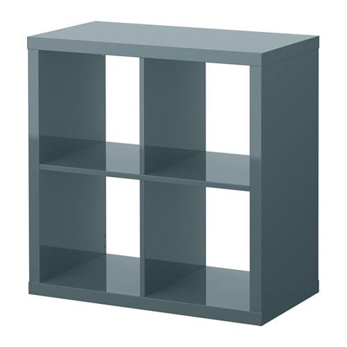 Ikea Regal Kallax kallax shelving unit high gloss grey turquoise 77x77 cm ikea