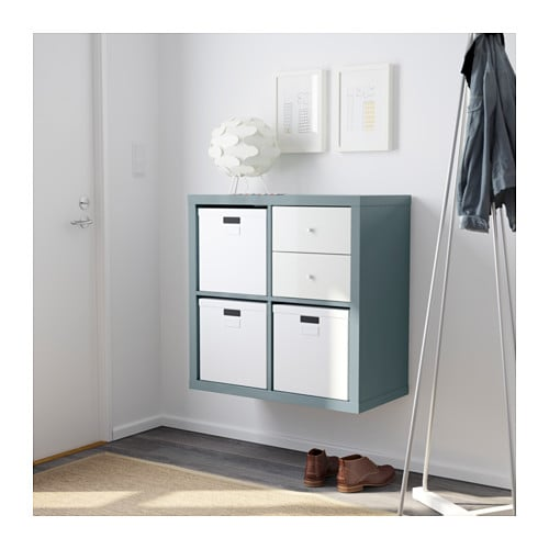 kallax shelving unit high gloss grey turquoise 77x77 cm ikea. Black Bedroom Furniture Sets. Home Design Ideas