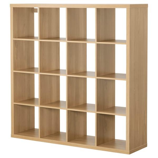 KALLAX Shelving unit, oak effect, 147x147 cm