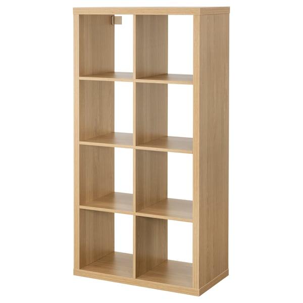 KALLAX Shelving unit, oak effect, 77x147 cm