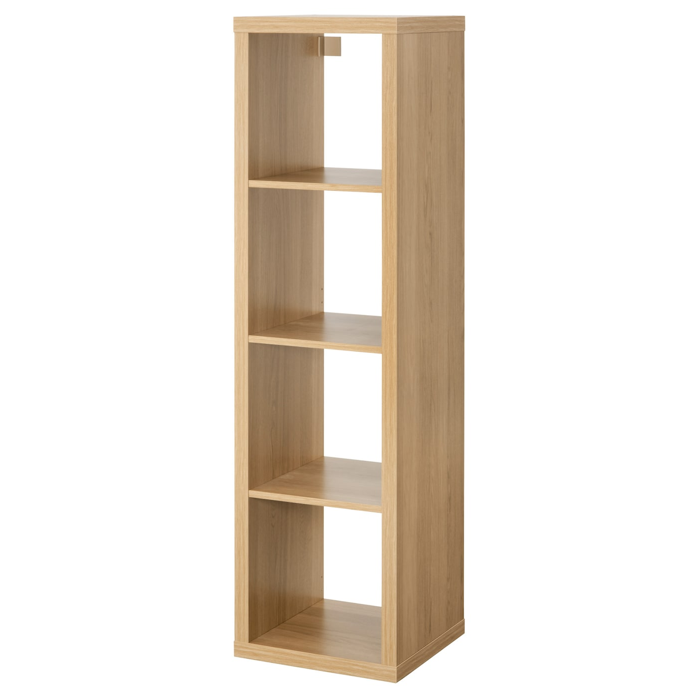 kallax shelving unit oak effect 42 x 147 cm - ikea