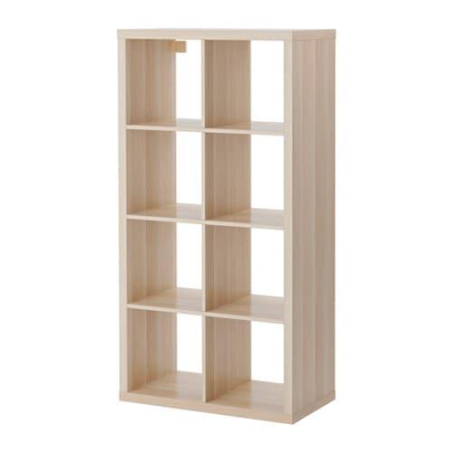 kallax shelving unit white stained oak effect 77x147 cm ikea. Black Bedroom Furniture Sets. Home Design Ideas