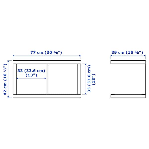 KALLAX Shelving unit, white stained oak effect, 77x42 cm