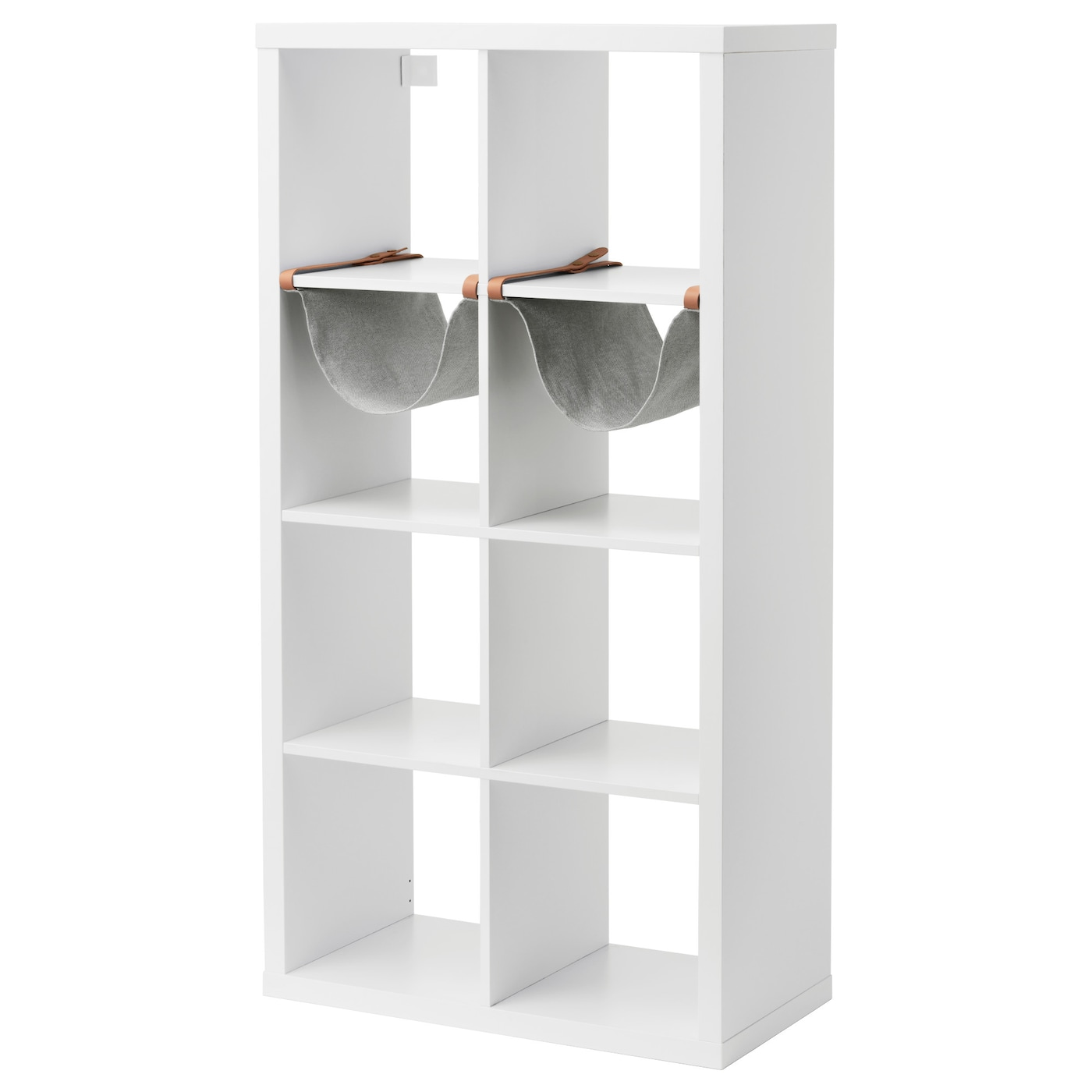 IKEA KALLAX shelving unit with 2 inserts
