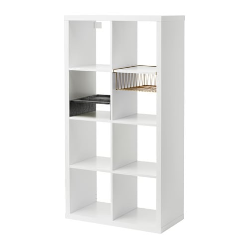IKEA KALLAX shelving unit with 2 inserts Compartments make it easy to organise pens, cutlery, etc.