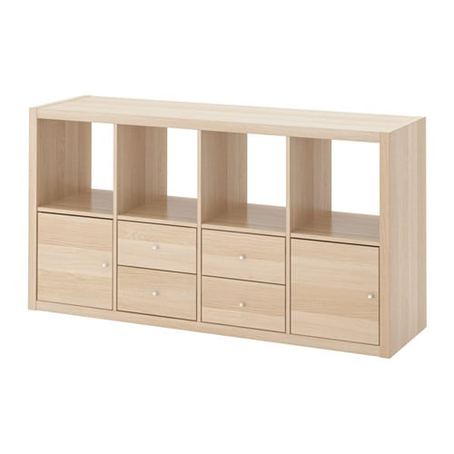 IKEA KALLAX shelving unit with 4 inserts