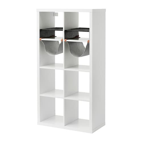 IKEA KALLAX shelving unit with 4 inserts Compartments make it easy to organise pens, cutlery, etc.