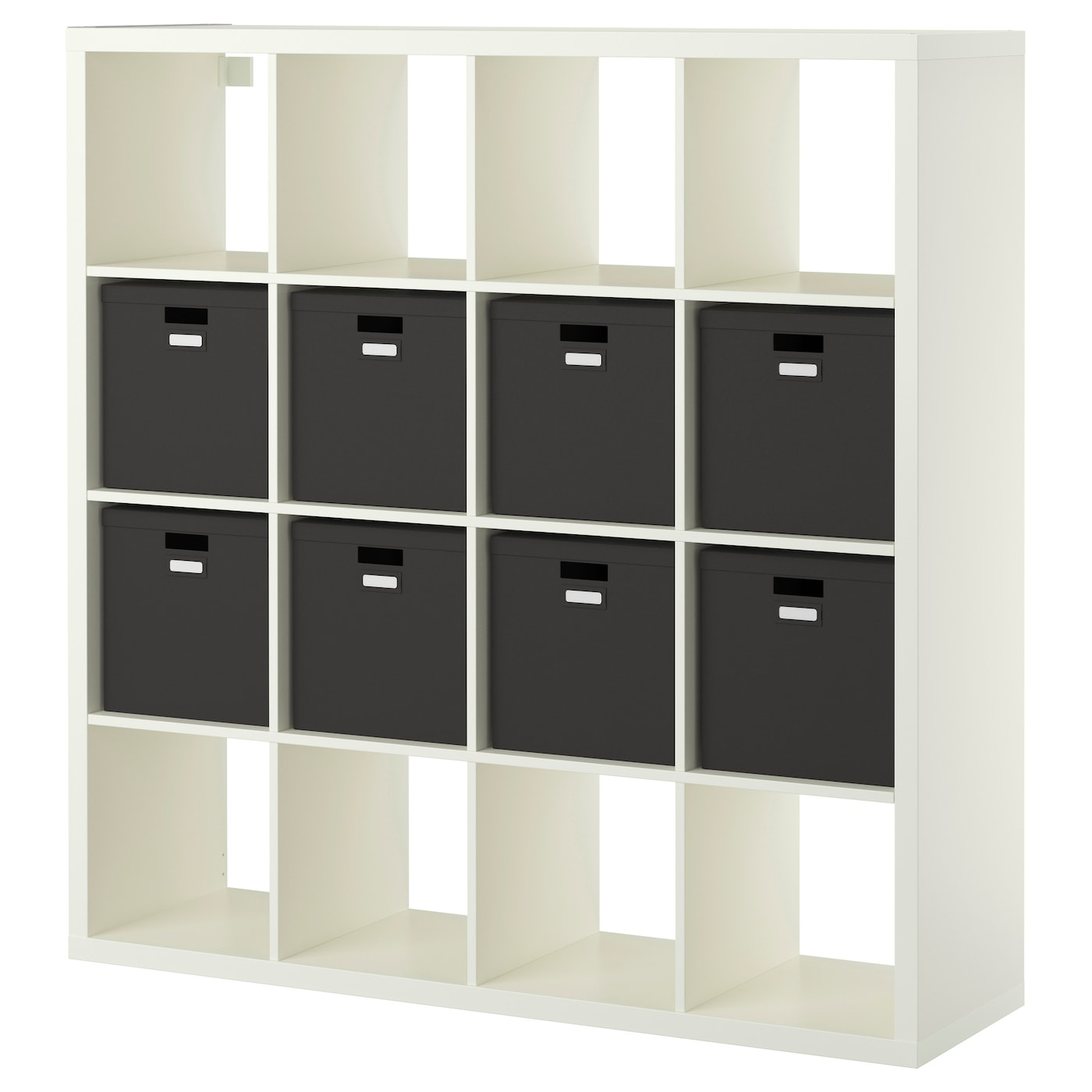 kallax shelving unit with 8 inserts white 147x147 cm ikea. Black Bedroom Furniture Sets. Home Design Ideas