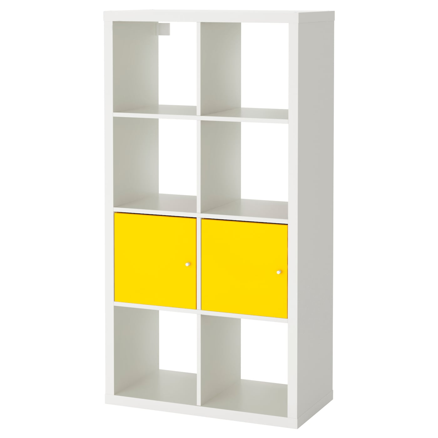shelving unit with doors kallax shelving unit with doors white yellow 77 x 147 cm 26051