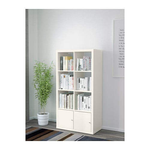 kallax shelving unit with doors white 77x147 cm ikea. Black Bedroom Furniture Sets. Home Design Ideas