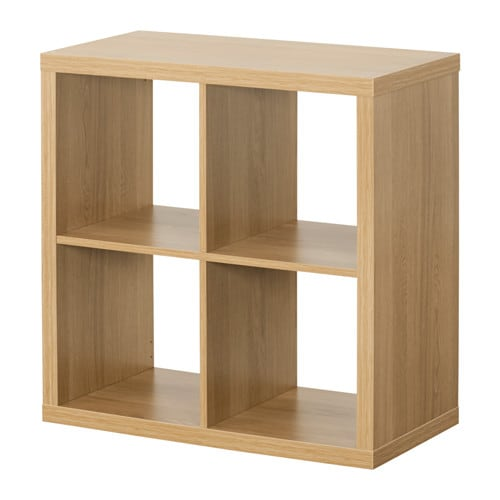 kallax shelving unit oak effect ikea. Black Bedroom Furniture Sets. Home Design Ideas