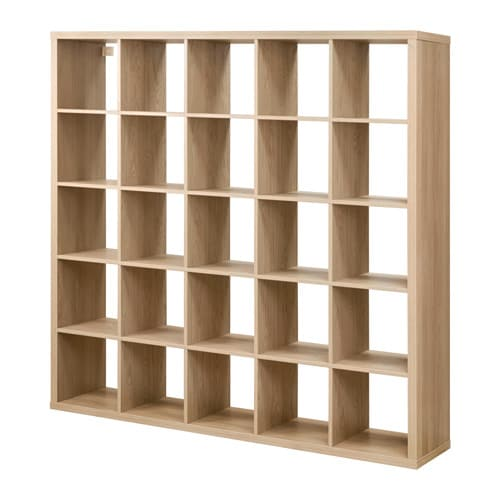Kallax shelving unit oak effect ikea for Ikea box shelf unit