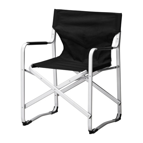 KALVÖ Director's chair IKEA Rustproof aluminium frame; both sturdy and lightweight.  Foldable; saves space when not in use.