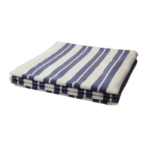 KALVSJÖN Bath sheet IKEA A terry towel in medium thickness that is soft and highly absorbent (weight 550 g/m²).