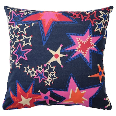 KARISMATISK Cushion cover, star pattern blue, 50x50 cm