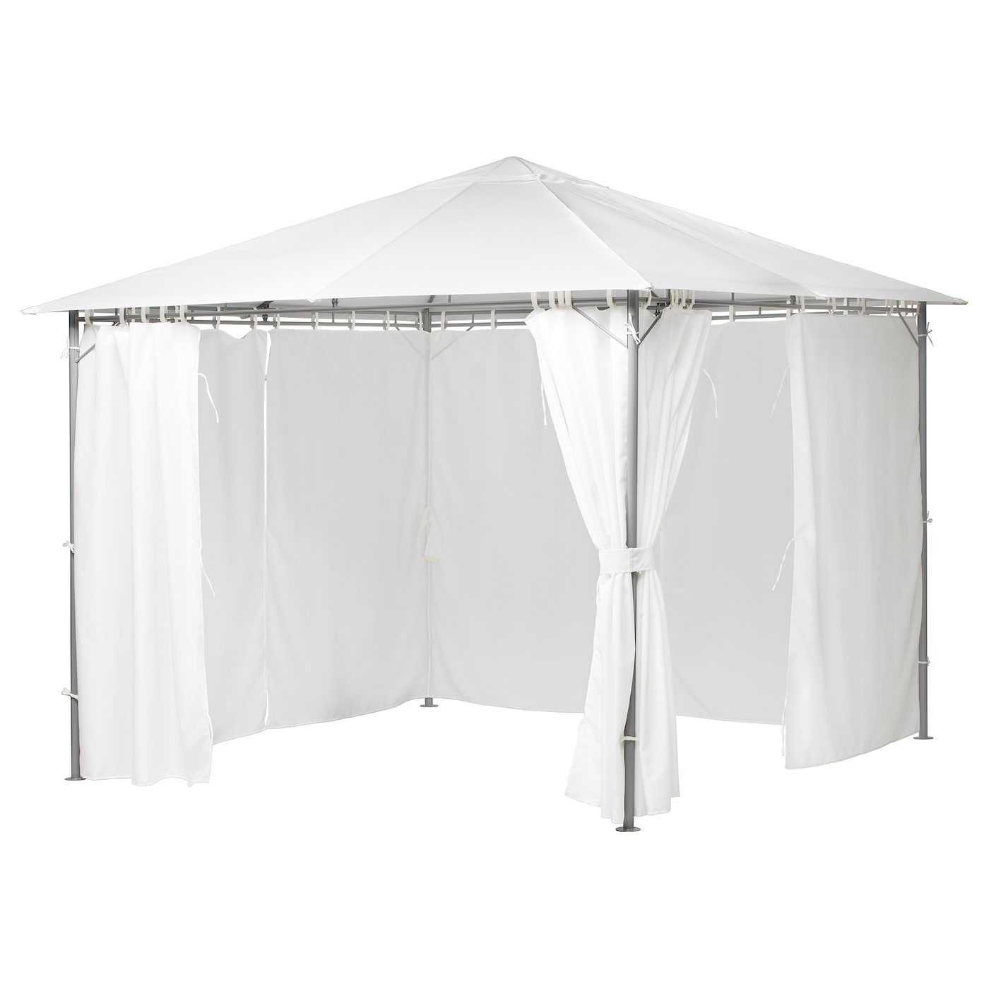 IKEA KARLSÖ gazebo Curtains create the feeling of a separate room and increase privacy.