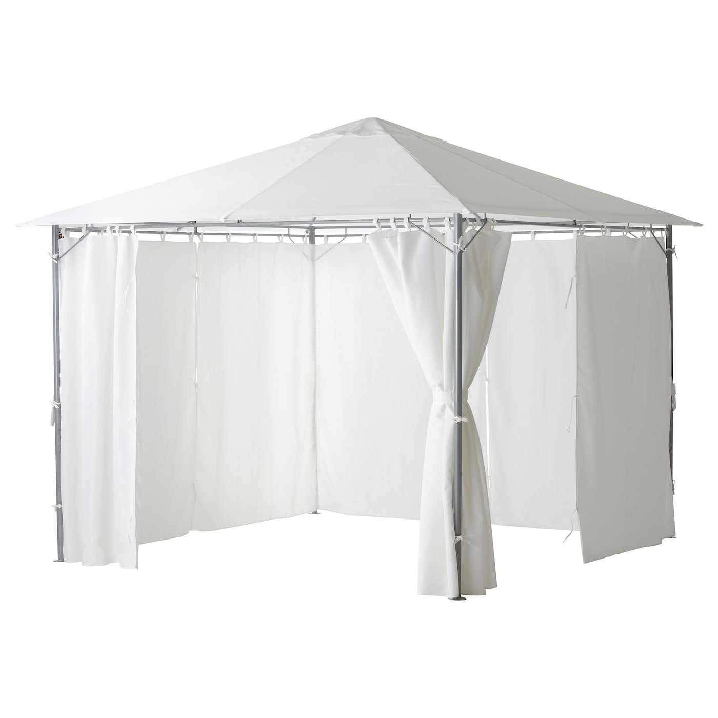 IKEA KARLSO Gazebo With Curtains The Air Vent Reduces Wind Pressure And Allows Heat To Circulate